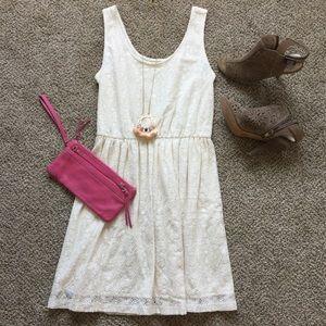 Mossimo cream lace dress